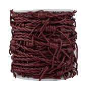 Leather Cord Barbed Wire, 10 Metre Spool, Cherry Red