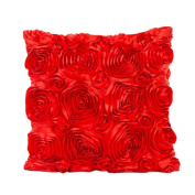 Usstore Decorative Pillowcases Rose Flower Waist Throw Pillow Cover Cafe Home Decoration for Living Sofas Beds Room