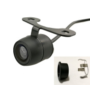 Auto Rover Universal Waterproof Car Front/Rear View Mini Camera with 2 Types Installation(Flush Mounting or Bracket Mounting), Normal Image or Mirror Image, with or without Distance Scale Lines Switchable.