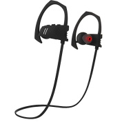 Sport Bluetooth Headphone FusionTech® Bluetooth 4.1 Stereo Sport Wireless Headphones Running Gym Exercise Sweatproof Earphones with Built-in Mic for iPhone, Samsung, Android Smartphones