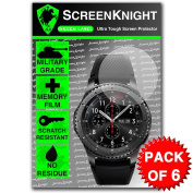 ScreenKnight for Samsung Gear S3 Frontier Screen Protector - Military Shield X 6 Pieces