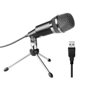 PC microphone,Fifine Plug & Play Home Studio Cardioid USB Condenser Microphone for Skype, Recordings for YouTube, Google Voice Search, Games(Windows/Mac)-K668