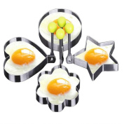 4-Style High Quality Stainless Steel Omelette Fried Egg Ring Pancake Mould Omelette Mould Control Rice Omelette Mould Love