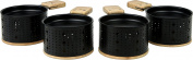 Cookut Lumi Set of 4 for the Raclette, Metal, Black, 29 x 29 x 8 cm, 4 Units