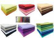 """Misscrafts 36pcs 12"""" x 12"""" (30cm x 30cm) 1.5mm Thick Acrylic Soft Felt Nonwoven Fabric Sheet Pack DIY Craft Patchwork Sewing Squares Assorted Colours for Hobby Crafter with Free Thread"""