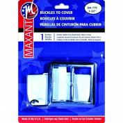 Maxant Button BK-775 Square Buckle Cover Kit, 3.8cm , Silver