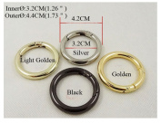 """4 PCS 32mm Metal Snap Clip Trigger Spring Gate """"O"""" Ring Keyring Buckle Bag Accessories Rings"""