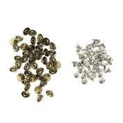 Trimming Shop 100 X 9Mm X 6Mm Brass Punk Cone Spike Studs With Pins Belt Bag Clothing Leather Craft