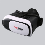 VR Glasses, LESHP 3D VR II Virtual Reality Headset for iPhone 7 6 5, for Samsung Galaxy Series and Other 10cm - 15cm SmartPhone