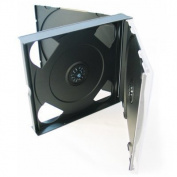 VISION MEDIA 10 X 4 WAY QUAD MULTI BLACK CD JEWEL CASE