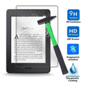 Kindle Paperwhite / Kindle 8 Generation Screen protector, Infiland Premium HD clear Tempered Glass Screen Protector for Amazon Kindle (8.Generation - 2016 Model) 15cm eReader/Kindle Paperwhite 2012, 2013, 2014, 2015