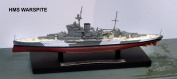 HMS Warspite Battleship - 1:1250 Scale Model