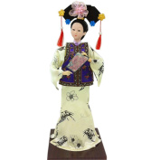 Chinese Souvenir Gift Dolls Exquisite Clothes Toy Collection, C