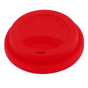 sourcingmap® Silicone Family Cafe Reusable Drinking Water Tea Coffee Mug Cup Lid Cover Red