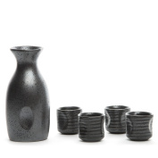 Hakkin 150ML 5 Piece Hand Painted Ceramic Wine Cup Pottery Sake Set Ideal for Japanese Sake