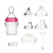 Feeding Bottle,MUAI 3 IN 1 Multi-functional BPA FREE Silicon Bottle Gift Set