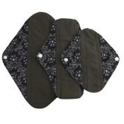 AMA(TM) Reusable Bamboo Lining Washable Menstrual Pads Mama Cloth Sanitary Towel Pads