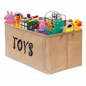 "Gimars XXL 22"" Well Holding Shape Jute Toy Chest Baskets Storage Bins Organiser - Perfect for Organising Toy Storage, Baby Toys, Kids Toys, Dog Toys, Baby Clothing, Children Books, Gift Baskets-TOYS"