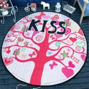 Hever Kids Cotton Round Rug Baby Play Mat and Toy Organiser Storage 150cm
