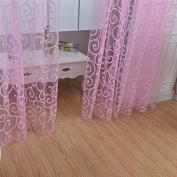 "LADEY One Piece Sheer Window Voile Curtain European Classical Style ""100cm ¡Á200cm"