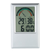 KKmoon °C/°F Digital Thermometer Hygrometer Temperature Humidity Metre Alarm Clock Max Min Value Comfort Level Display