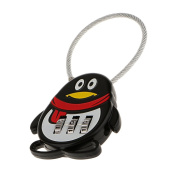 MagiDeal Black Penguin 3 Dial Combination Password Security Padlock Safety Lock