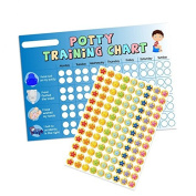 A3 Blue Boys Potty / Toilet Training Chart & Star Stickers for Teachers, Parents & Schools