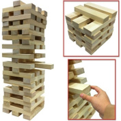 NEW GIANT WOODEN TOWER BLOCKS GAME OUTDOOR GARDEN PARTY FAMILY PUB BEACH 1.2M Tumbling / TUMBLE TOWER / Wooden Brick Block by SMART SHOPPING