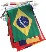 2014 Brazil World Cup Fabric Bunting- All 32 Flags 9 Metres (Flag size