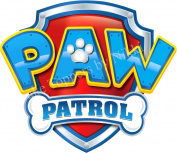 7.6cm Paw Patrol Logo BLUE Precut Icing CakeToppers Easy Peel & Attach Fab For Birthday Cakes