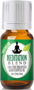 Meditation Blend 100% Pure, Best Therapeutic Grade Essential Oil - 10ml - Ylang Ylang, Patchouli, Frankincense, Clary Sage, Sweet Orange, Thyme, French Lavender