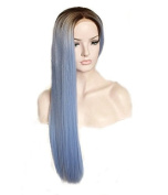 Uniwigs New Arrival Heat Friendly Synthetic Fibre Lace Front Wig, Ombre Colour, Long Straight Style wig for Fashion Women