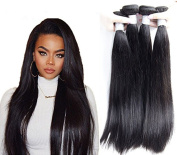 Passion Beauty Hair 3 Bundles 7A Grade Virgin Remy Indian Long Straight Hair Extensions Weave ,Natural Black Colour