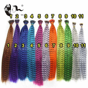 100Pcs Top Quality Hairpiece 11 Colours Available Bundle Thin Grizzly Rooster Feather Hair Extensions With Beads