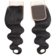 Body Wave 4x 4 Free Part Lace Closure 25cm Length Virgin Brazilian Human Hair Lace Frontal Closure 100% Unprocessed Natural Black Colour 30g/pc