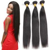 9A Grade Brazilian Virgin Human Hair Extensions Straight Hair Bundles Unprocessed Natural Colour Black Hair Weave 3 Bundles 4 bundles 100g/Bundle