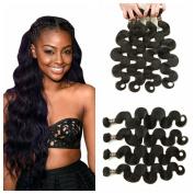 Ali Funmi Brazilian Body Wave Virgin Hair 22 24 26 70cm 4 Bundles Unprocessed Virgin Brazilian Wet and Wavy Human Hair Weave Extensions Natural Colour
