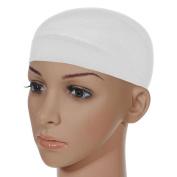 Rise World Unisex Stocking Snood Natural White Wig Caps