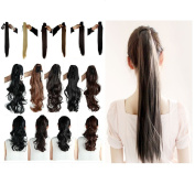 Haironline Clip in Ponytail Extensions Jaw Claw Pony Tail Clip in Hair Extensions One Piece 50cm Long Straight Real As Human hair
