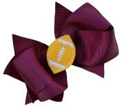 Girls Football Hair Bow 11cm Embroidered Football Team Hair Bow