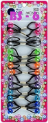 Tara Girls Twinbead Bubble Ponytail Holders Elastic Hair Accessories 14 Pieces Selection