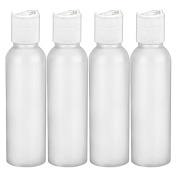 MoYo Natural Labs HDPE 60ml DISC CAP BPA FREE No Leak Disc Cap Bottle Easy Squeeze Tsa approved Travel Bottle Set Made in USA Pack of 4