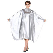 "SMARTHAIR Professional Salon Cape Polyester Haircut Apron Hair Cut Cape,54""x62"",Silver,C012001B-S"