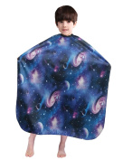 WM BEAUTY Kiddie Cape Galaxy Interstellar Print Styling Hair Salon Children Shampoo Cape Blue
