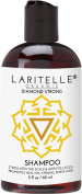 Laritelle Organic Travel Size Shampoo 60ml | Hair Loss Prevention, Strengthening, Follicle Stimulating | Argan, Rosemary, Lemongrass, Ginger & Cedarwood | NO GMO, Sulphate, Alcohol, Paraben, Phthalate