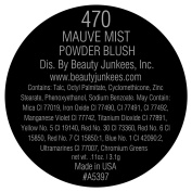 Mauve Mist Powder Blush Matte Pearl Pink Blusher Makeup for Face, Magnetic Refill Pan 37mm, Paraben Free, Gluten Free, Made in the USA