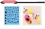 Nail Art Water Transfer Stickers Palm tree - DLS247 Nail Sticker Tattoo - FashionDancing