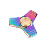 . AMA(TM) Hands Spinner Tri Fidget Spinner Zinc Alloy Fingertip Bearing Toy Focus Decompression Gyro Gifts