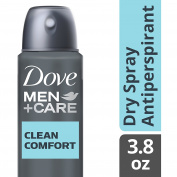 Dove Men+Care Dry Spray Antiperspirant Deodorant, Clean Comfort 110ml