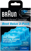 Braun Clean & Renew Refills 3-pack,170ml(5.7 Fl Oz)each-Total 510ml